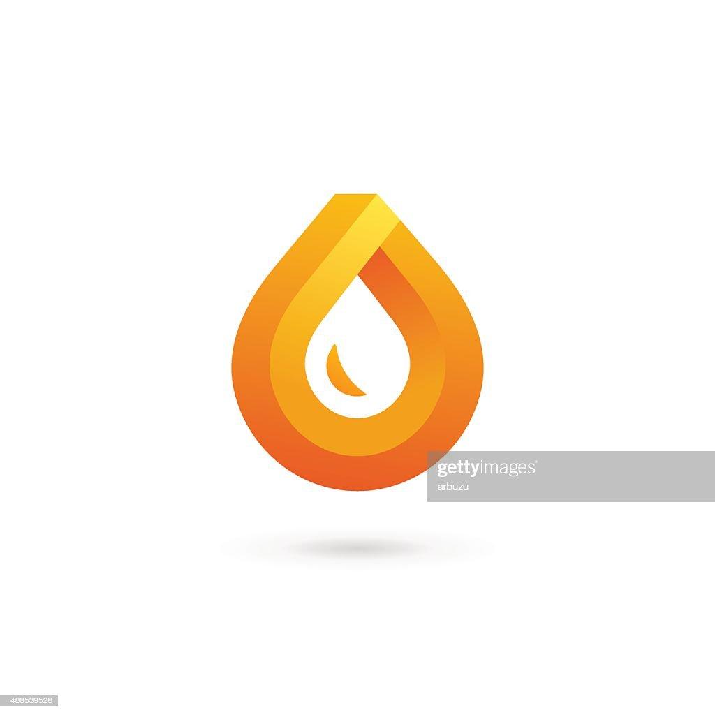 Water drop symbol design template icon