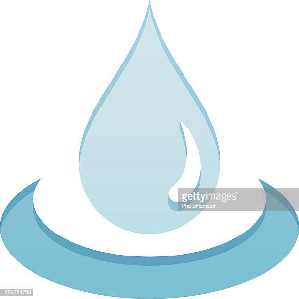 water drop - water cycle stock illustrations, clip art, cartoons, & icons