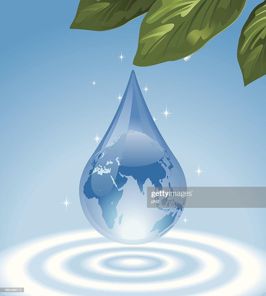 Water drop with superimposed world map vector vector art getty images water drop with superimposed world map vector vector art gumiabroncs Gallery