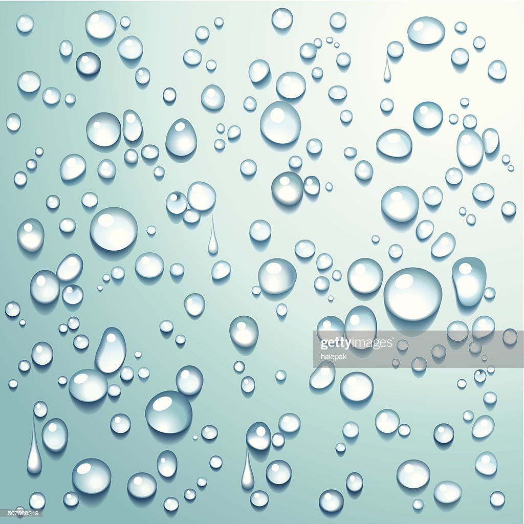 Water drops Turquoise - illustration