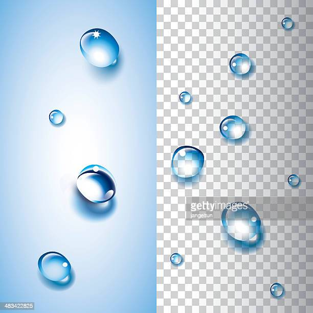 Water drops (transparent)