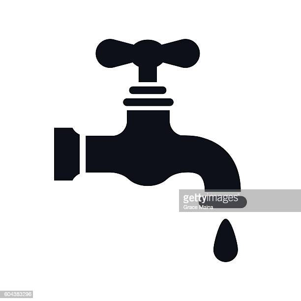 Water Faucet Icon - VECTOR