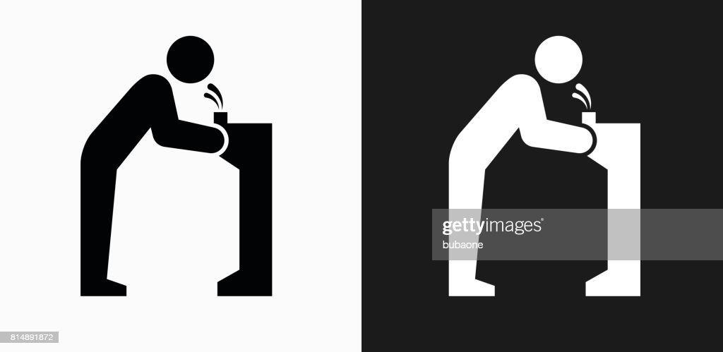 Water Fountain Icon On Black And White Vector Backgrounds Art
