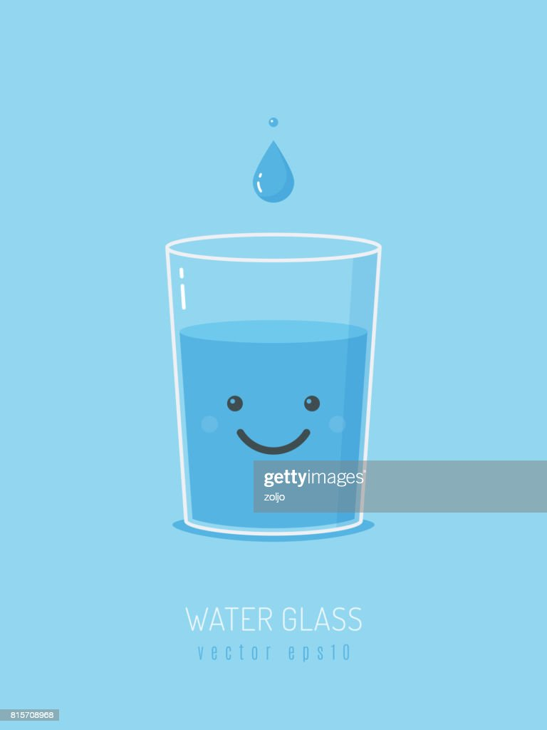 Water Glass Mascot