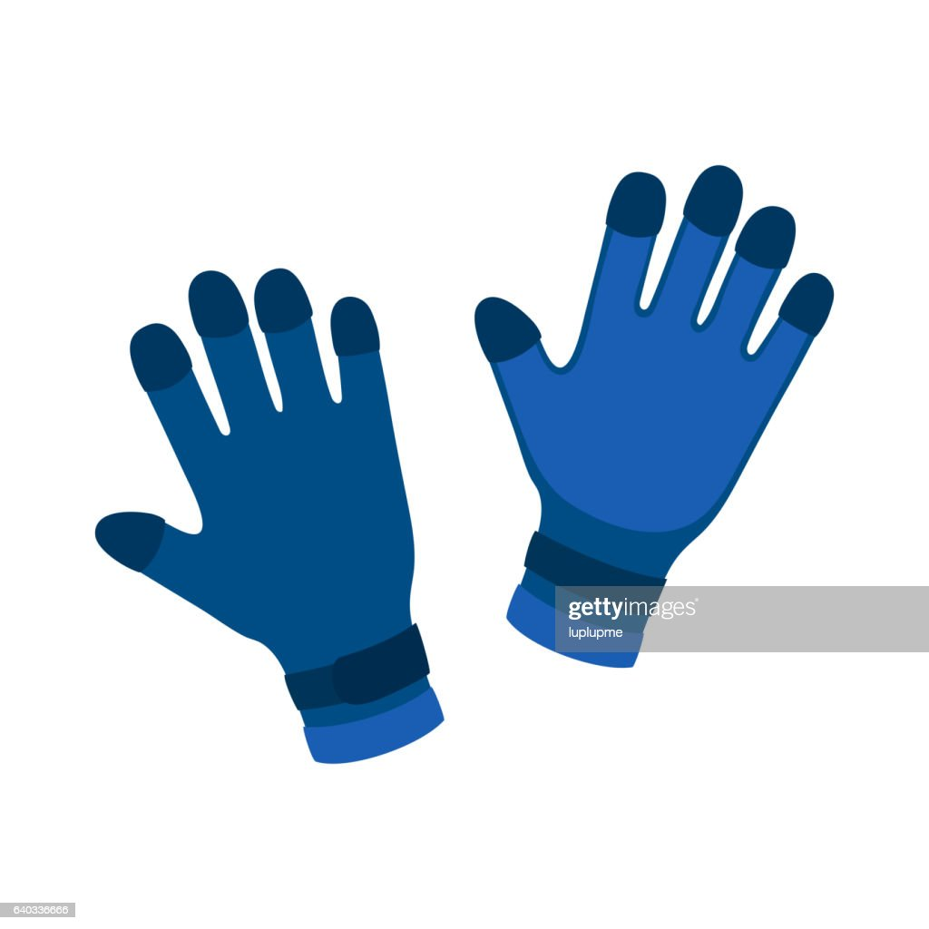 Water gloves cartoon vector illustration.