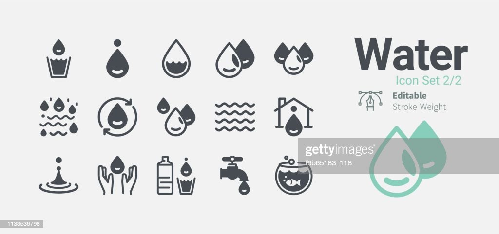 Water icon collection