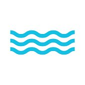 water icon isolated vector