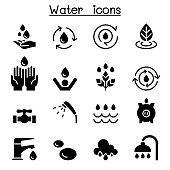 Water icon set vector illustration graphic design