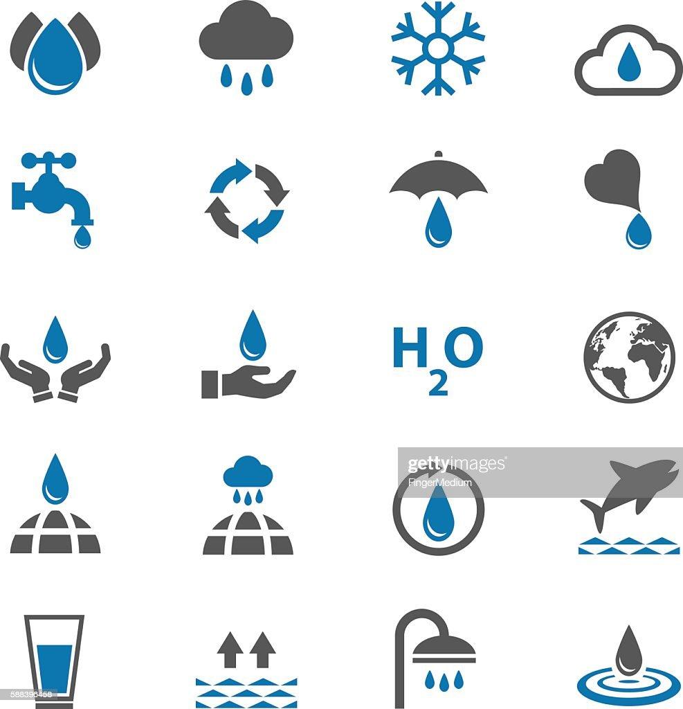 Water icons set