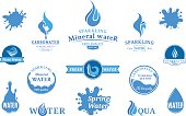Water Label, Icons and Design Elements