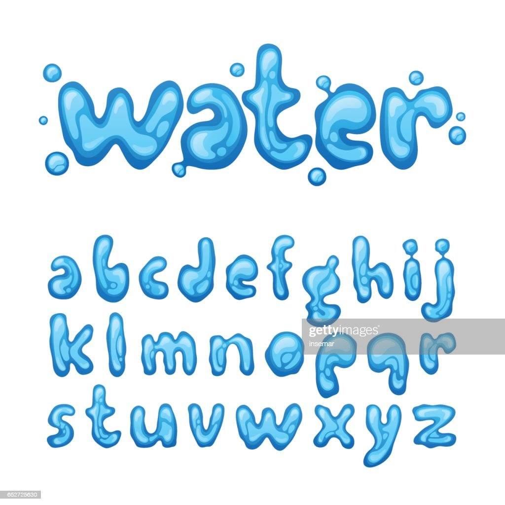 Water lettering