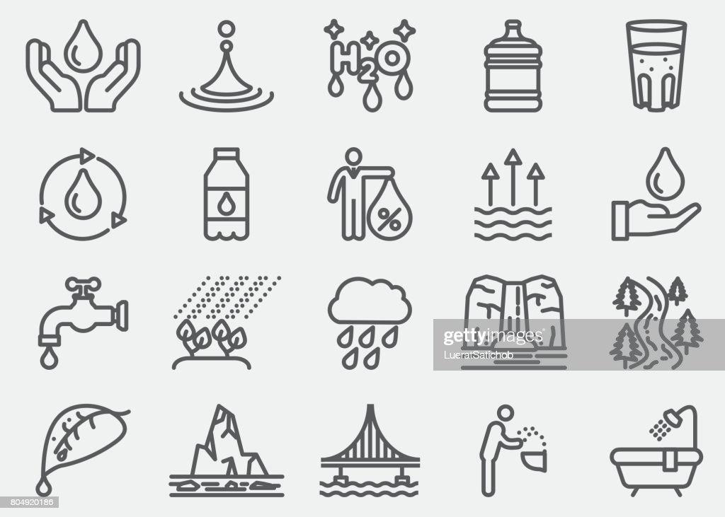 Waterlijn pictogrammen : Stockillustraties