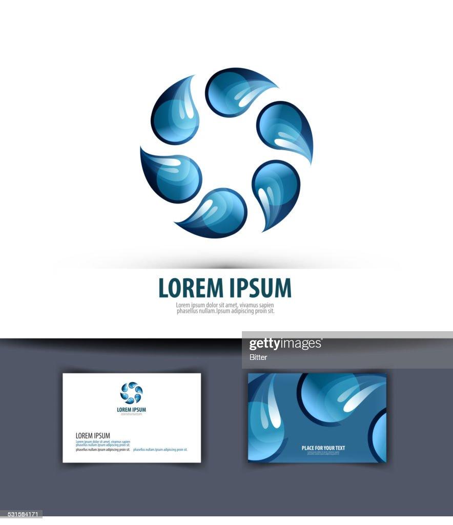 Leau Logo Icne Et Modle Emblme Carte De Visite