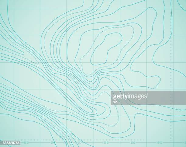 water ocean topography abstract sea background. - cartography stock illustrations