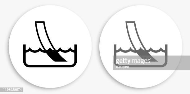 water ph paper test black and white round icon - ph value stock illustrations