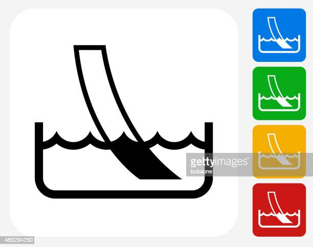 water ph paper test icon flat graphic design - ph value stock illustrations
