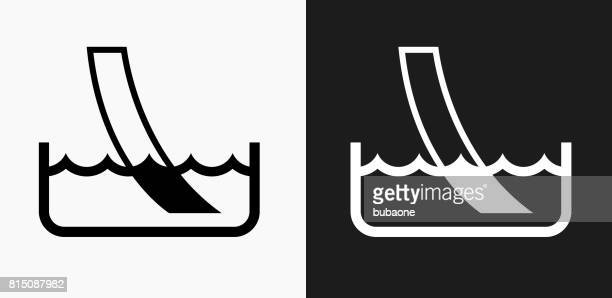 water ph paper test icon on black and white vector backgrounds - ph value stock illustrations