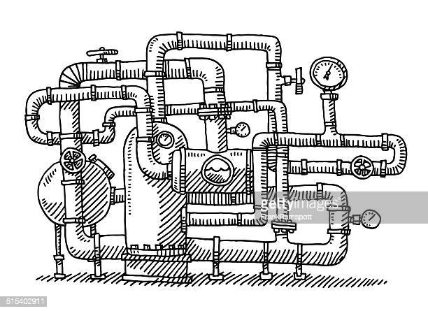 Water Pipe System Industry Drawing