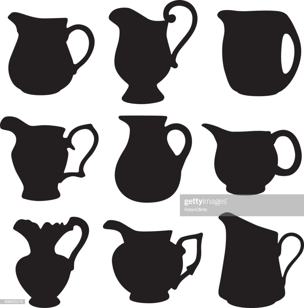 water pitcher silhouettes vector art getty images