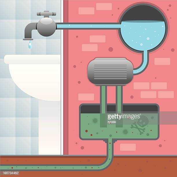 water purifier - water treatment stock illustrations, clip art, cartoons, & icons
