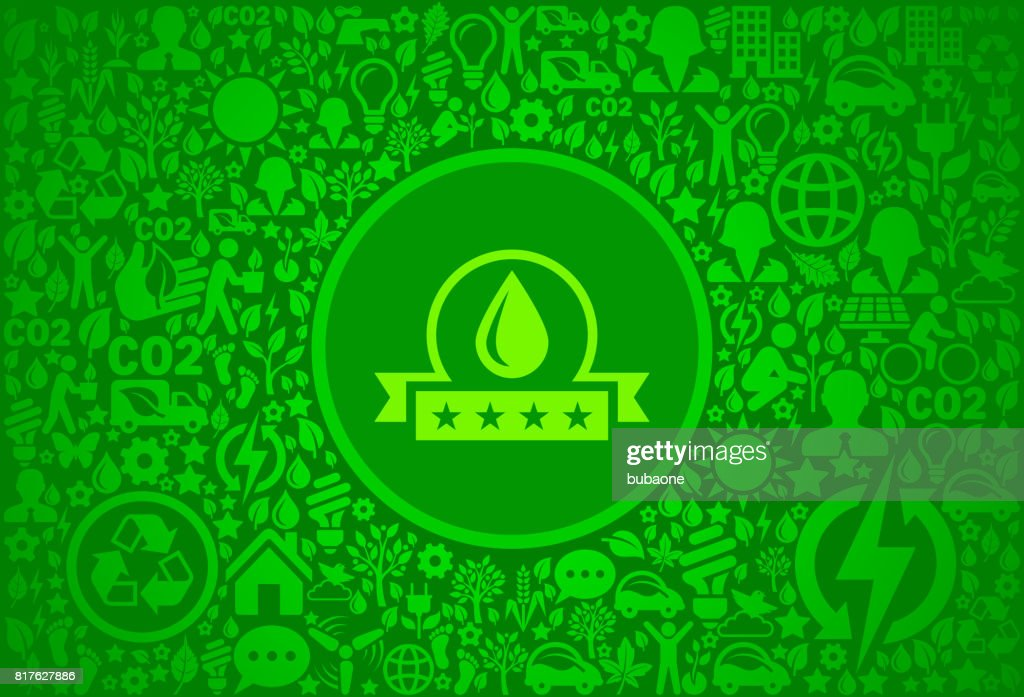 Water Quality Environment Green Vector Icon Pattern