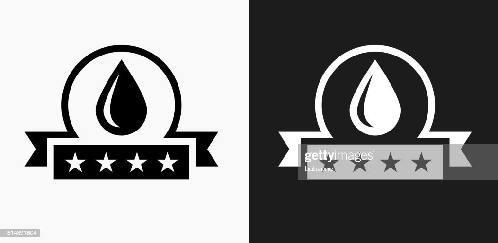 Water Quality Icon On Black And White Vector Backgrounds Vector Art