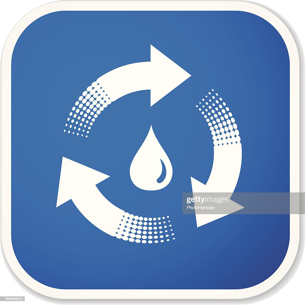 Water Recycling Symbol Sq Sticker Vector Art Getty Images