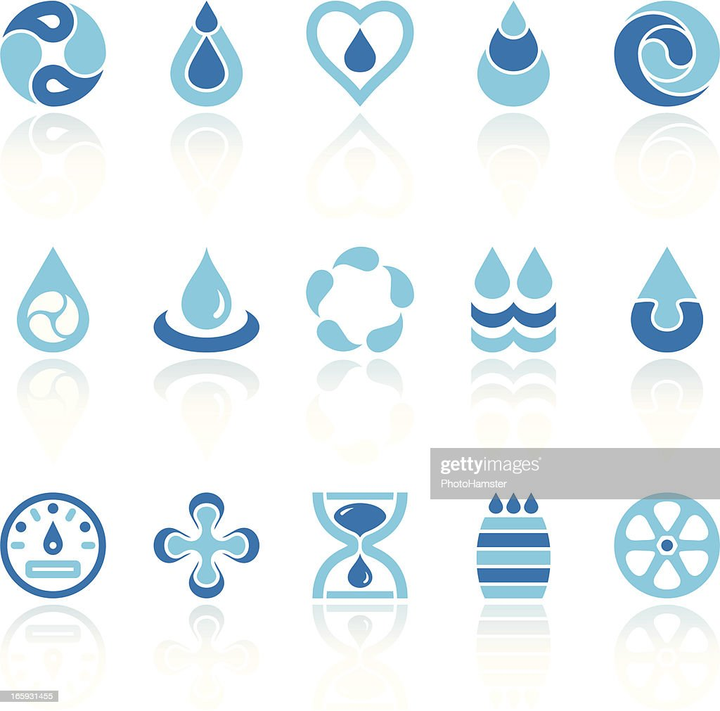 water recycling symbols