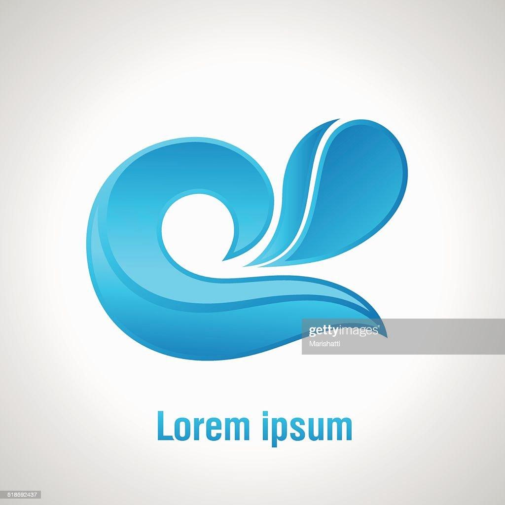 water simbol vector illustration design element