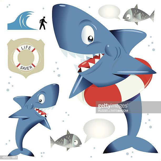 illustrations, cliparts, dessins animés et icônes de eau smart requin - requin