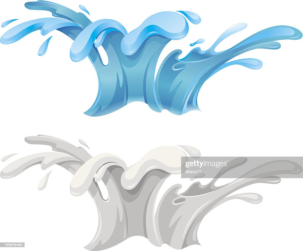 Water Splash Vector Art