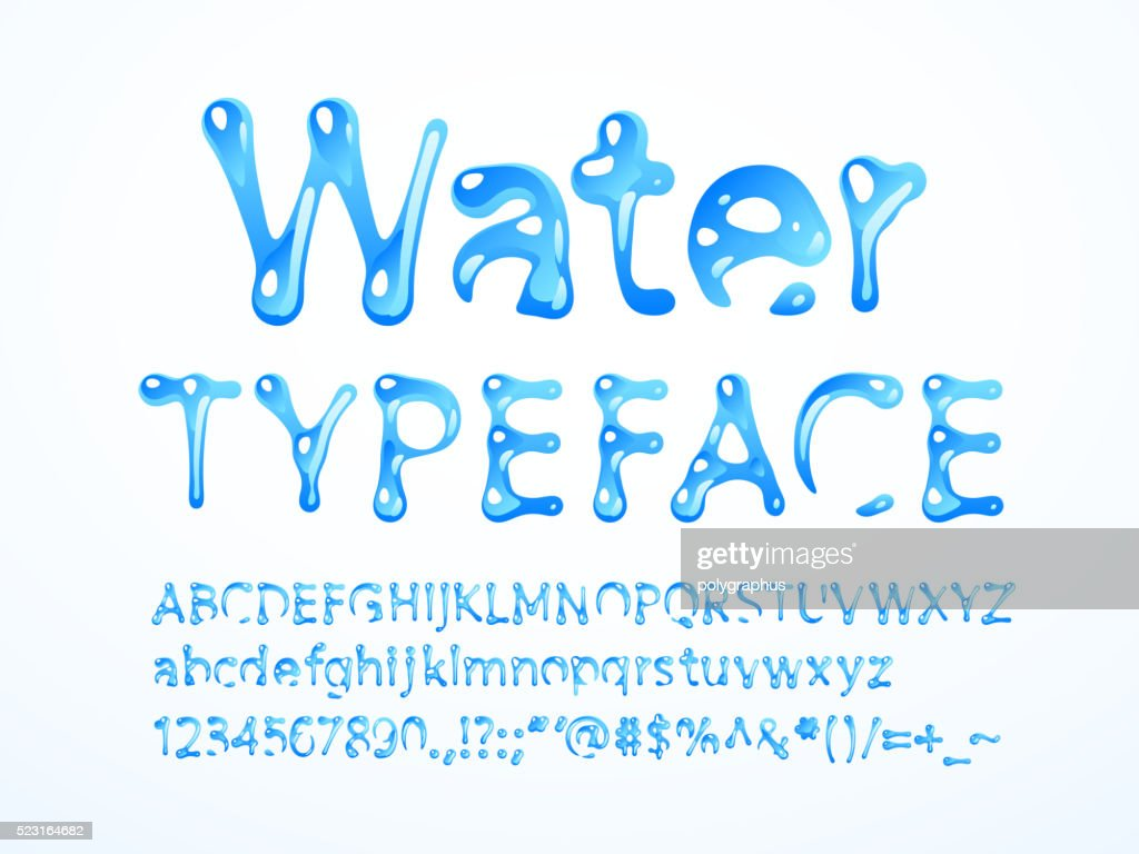 Water typeface