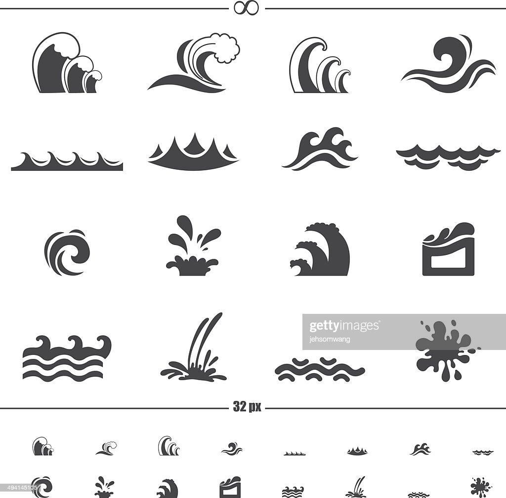 water wave icons