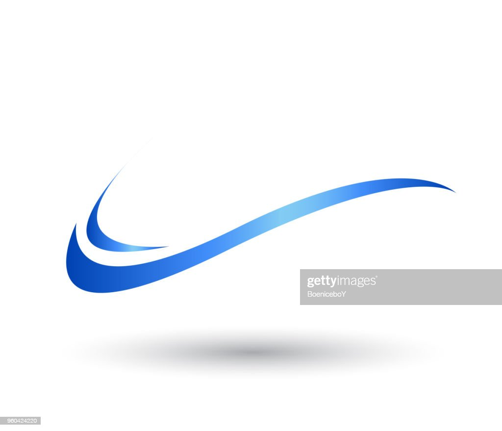 Water Wave swoosh symbol and icon Logo Template vector.