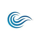 Water Waves logo Design vector icon