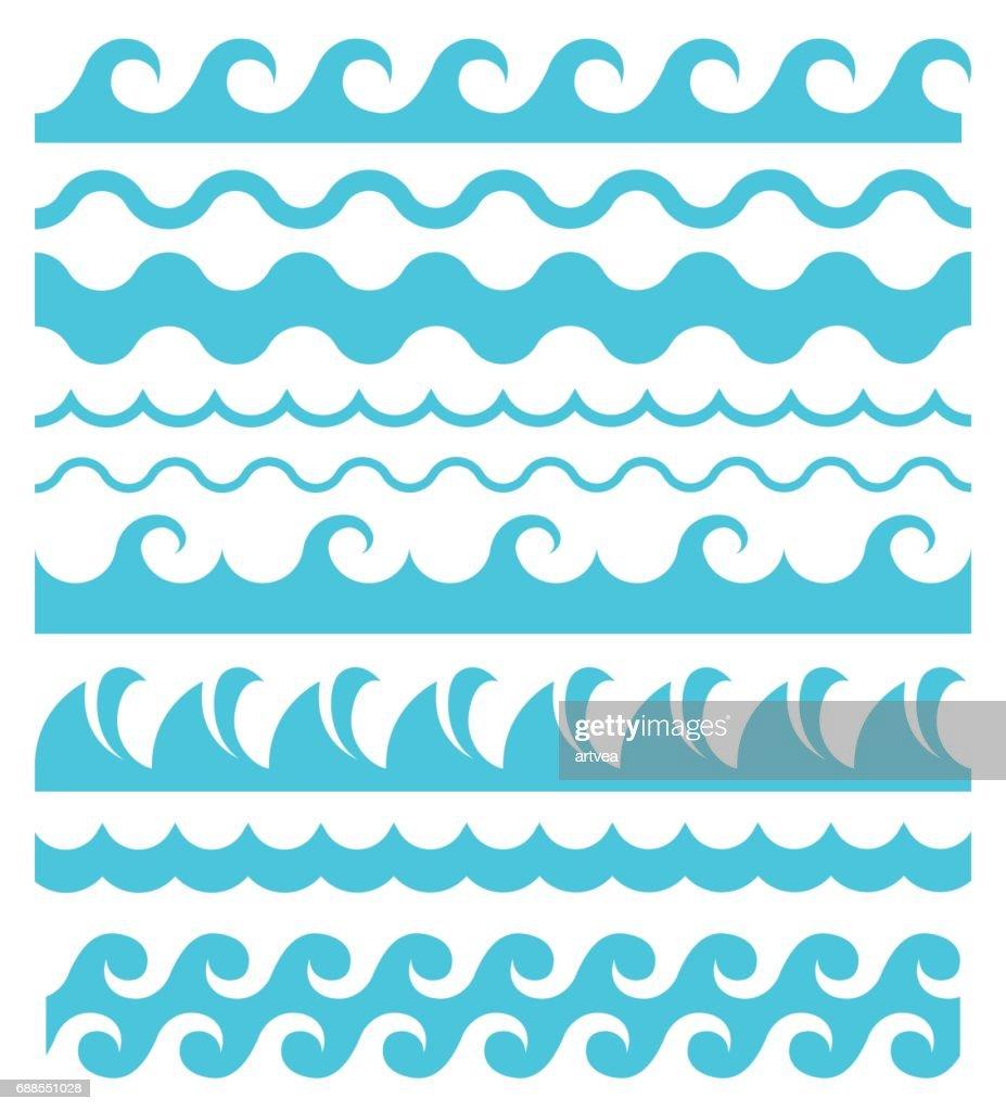 Ondas de água. : Ilustração