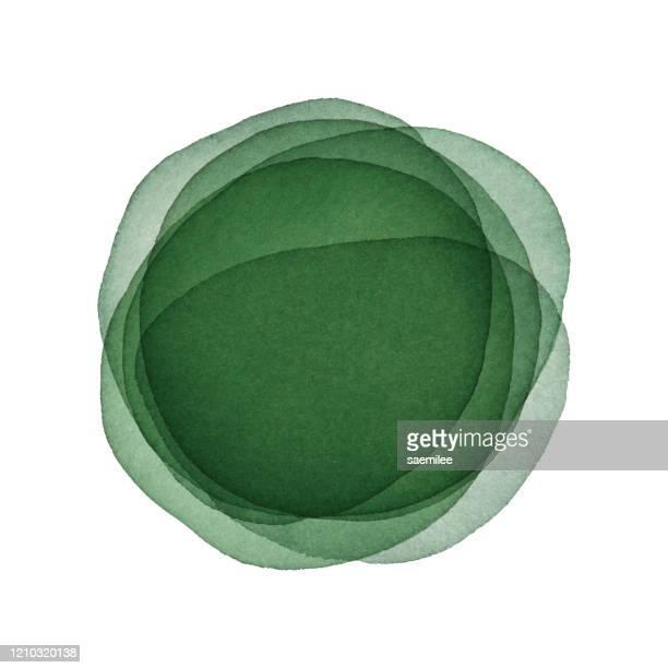 illustrazioni stock, clip art, cartoni animati e icone di tendenza di sfondo astratto acquerello con colore verde scuro - profondo