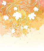 Watercolor Autumn Abstract Background