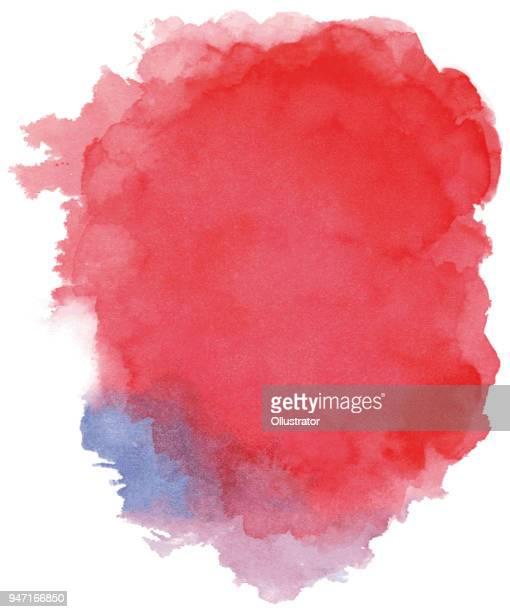 illustrazioni stock, clip art, cartoni animati e icone di tendenza di watercolor background red - acquerello su carta