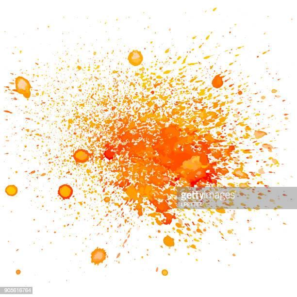 aquarell hintergrund - orange farbe stock-grafiken, -clipart, -cartoons und -symbole