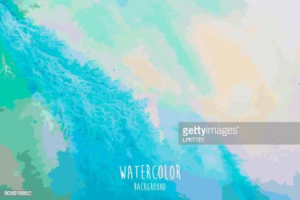 水彩画背景