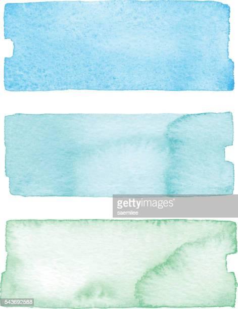Banner acquerello blu e verde