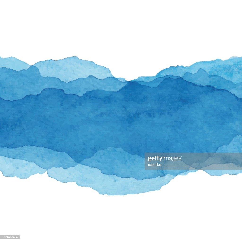 Aquarela Fundo abstrato azul : Ilustração