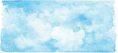 Watercolor Blue Banner