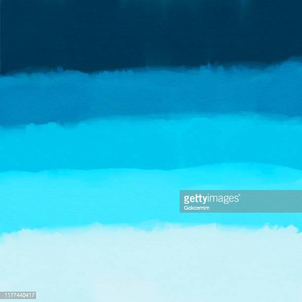 illustrazioni stock, clip art, cartoni animati e icone di tendenza di sfondo astratto sfumatura blu acquerello. elemento di design per il marketing, la pubblicità e la presentazione. può essere utilizzato come sfondo, sfondo pagina web, banner web. - acquerello su carta