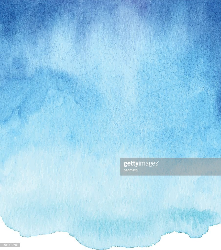 Watercolor Blue Gradient