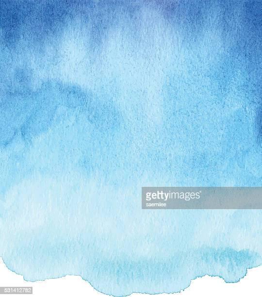 aquarell blau mit farbverlauf - himmel stock-grafiken, -clipart, -cartoons und -symbole