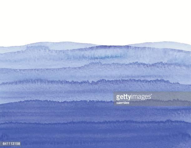 Watercolor Blue Wave Gradient