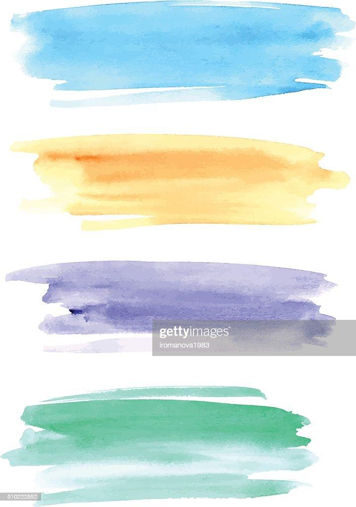 Watercolor brushstrokes for design