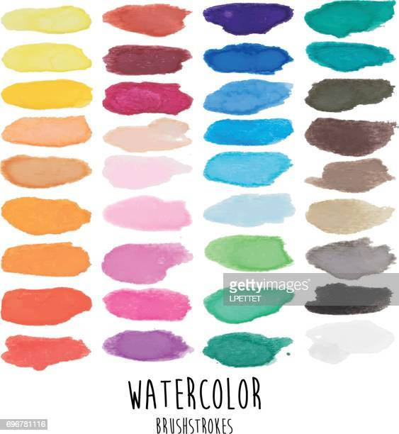 watercolor brushstrokes - illustration - brown stock illustrations